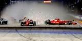 Пилоты Ferrari встретились между ними и вылетел с Гран-при Сингапура